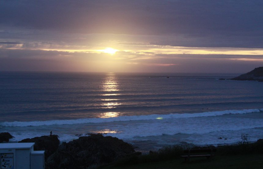 Woolacombe beach at night
